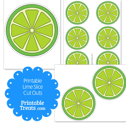 printable lime slice cut outs