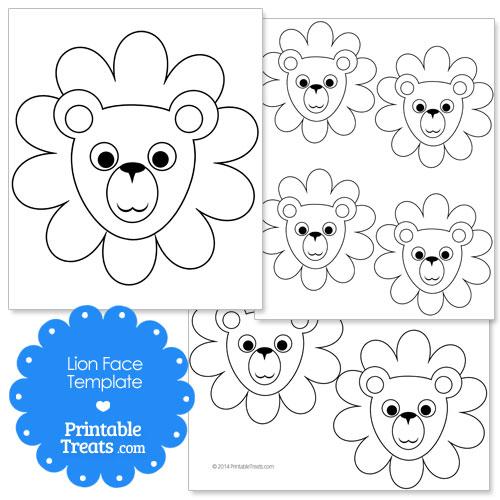 printable lion face template