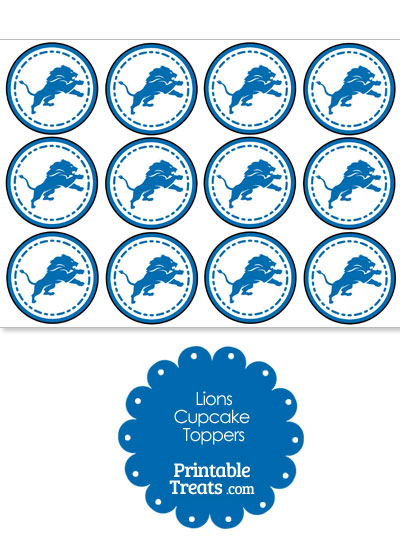 Printable Lions Logo Cupcake Toppers from PrintableTreats.com