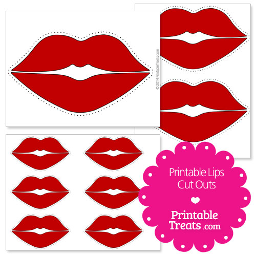 printable lips cut outs