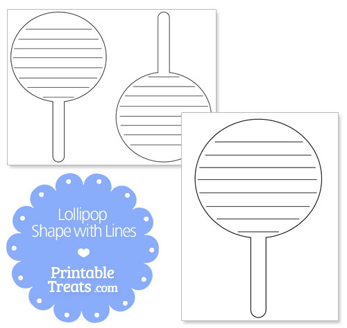 printable lollipop shape with lines