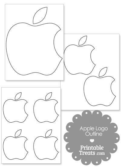 Printable Mac Apple Logo Outline from PrintableTreats.com