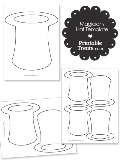 Printable Magicians Hat Shape Template from PrintableTreats.com