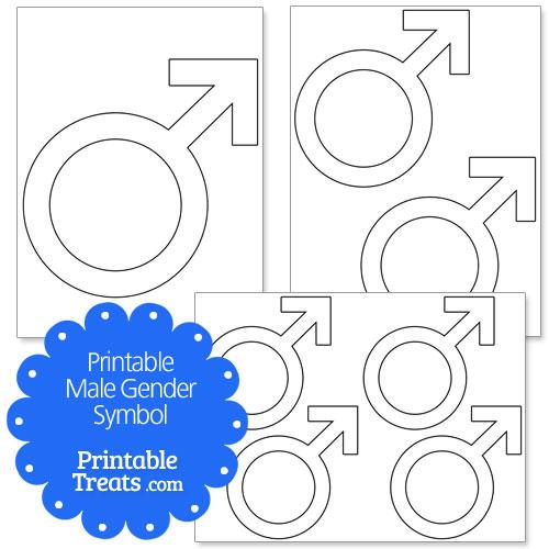 printable male gender symbol