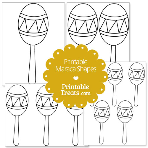 printable maraca shape template