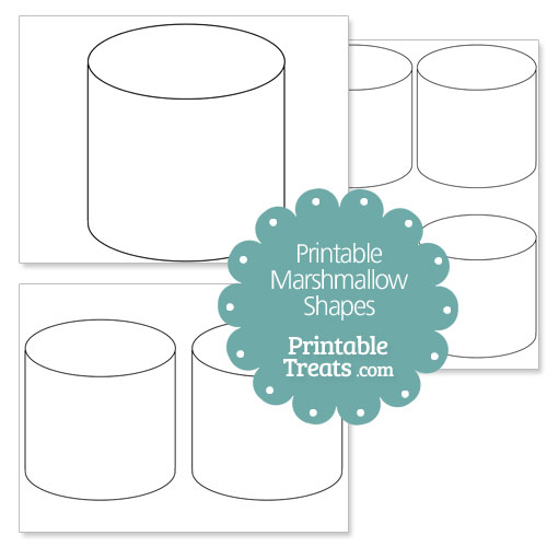 printable marshmallow shape template