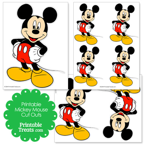 printable Mickey Mouse cut outs