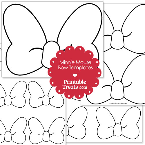 printable Minnie Mouse bow template