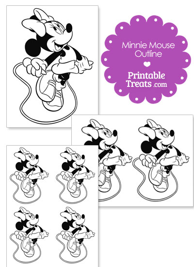 Printable Minnie Mouse Jumping Rope Template from PrintableTreats.com