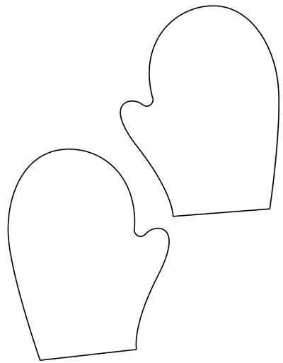 printable mitten coloring page