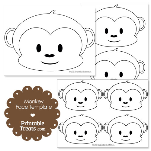printable monkey face template