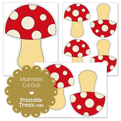 printable mushroom cut outs