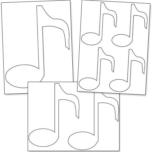 printable music note stencils