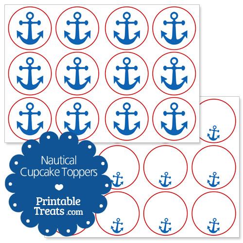 printable nautical cupcake toppers