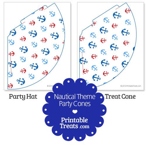 printable nautical party cones