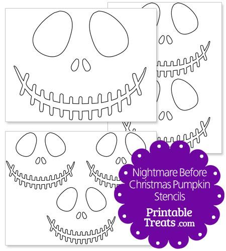 printable nightmare before Christmas pumpkin stencils