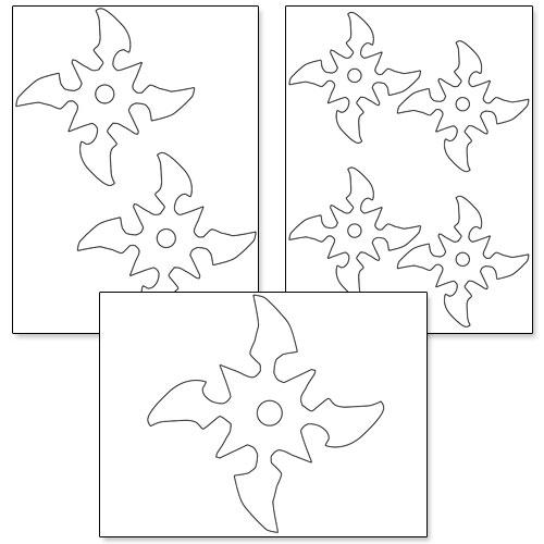 printable ninja star template