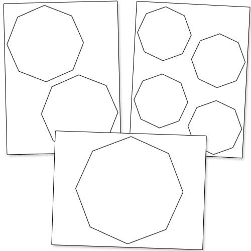 printable octagon shape cutouts