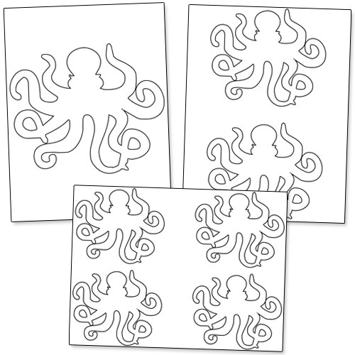 printable octopus template