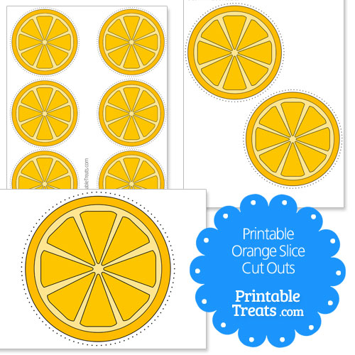 printable orange slice cut outs