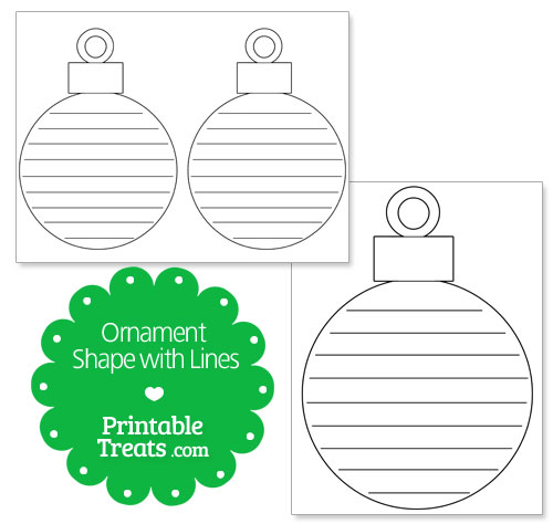 printable ornament shape with lines