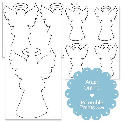 printable outline of an angel