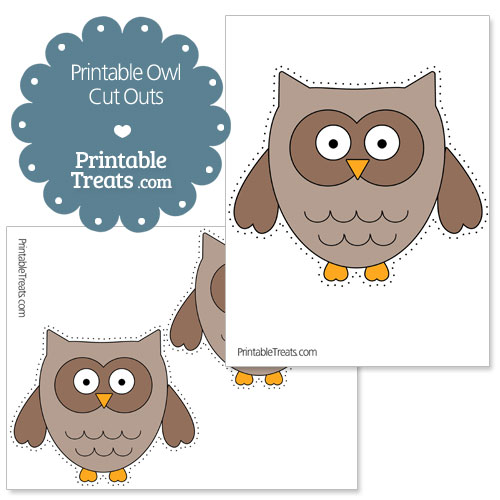 printable owl cut outs