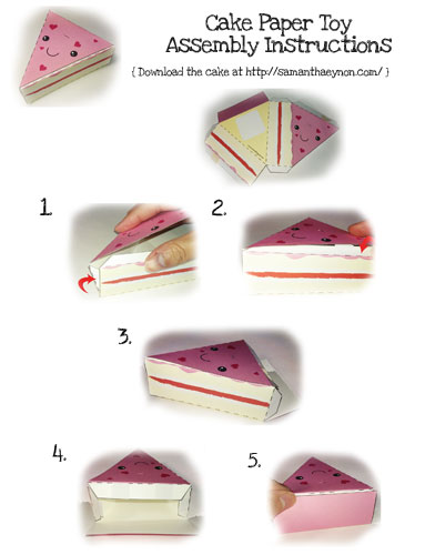 printable paper cake instructions