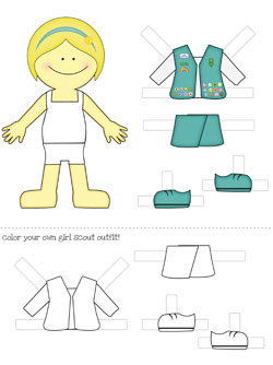 girl scout printable paper dolls