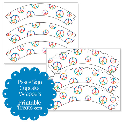 printable peace sign cupcake wrappers