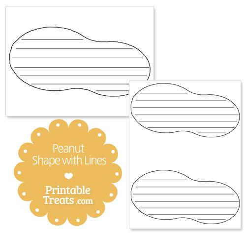printable peanut shape with lines