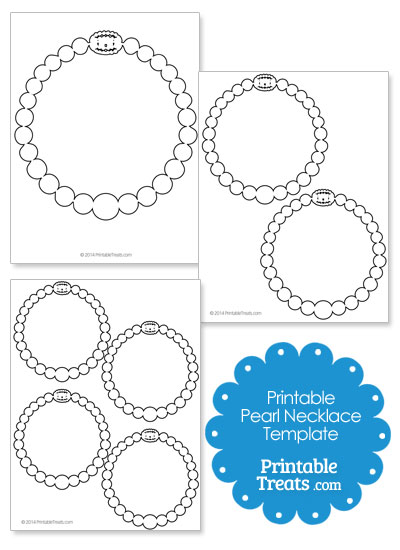 Printable Pearl Necklace Template from PrintableTreats.com