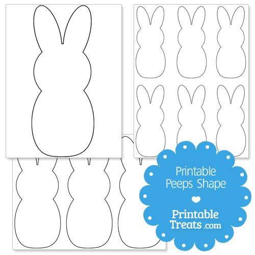 printable peeps bunny shape