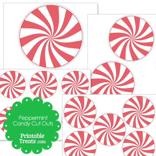 printable peppermint candy cut outs