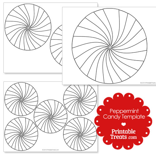 printable peppermint candy template