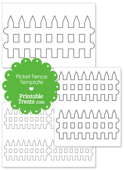 Printable Picket Fence Outline from PrintableTreats.com