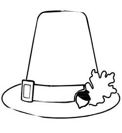 printable pilgrim hat coloring page