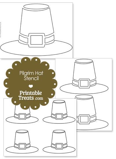 Printable Pilgrim Hat Stencil from PrintableTreats.com