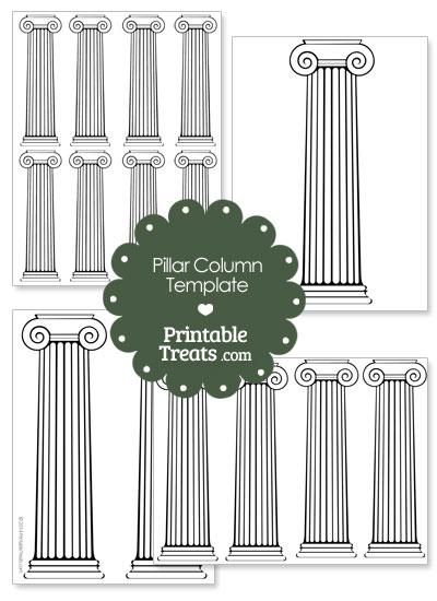 Printable Pillar Column Template from PrintableTreats.com