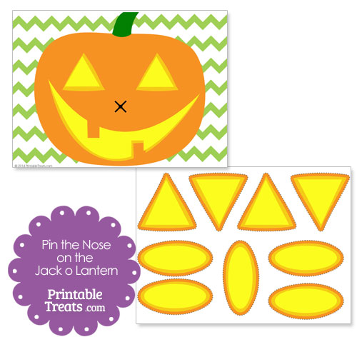 printable pin the nose on the jack o lantern