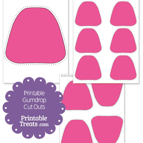 printable pink gumdrop cut outs
