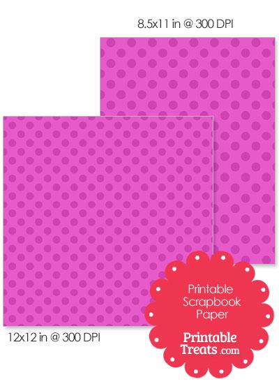 Printable Pink Polka Dot Paper from PrintableTreats.com