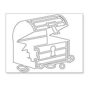 printable pirate chest coloring page