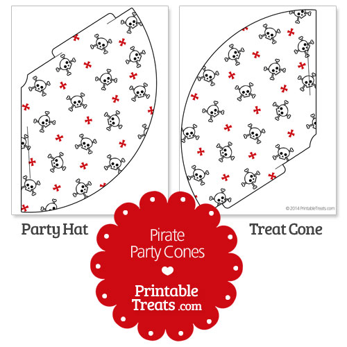 printable pirate party cones