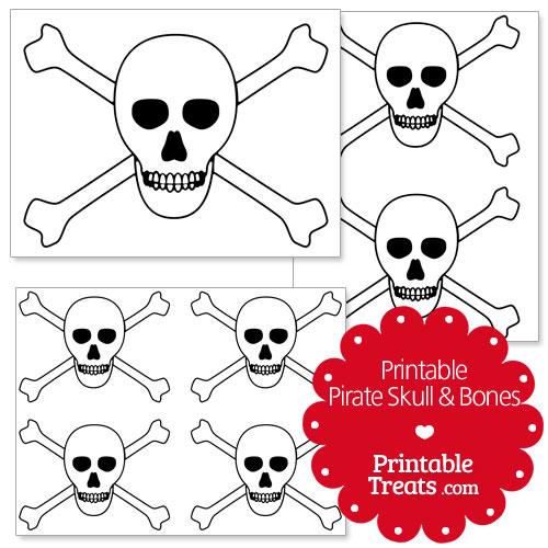 printable pirate skull and bones