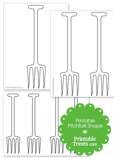 Printable Pitchfork Shape Template from PrintableTreats.com