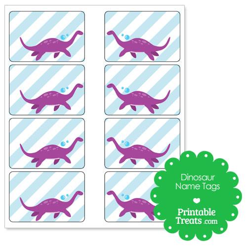 printable Plesiosaurus dinosaur name tags