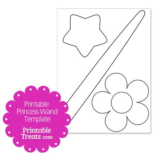 printable princess wand template