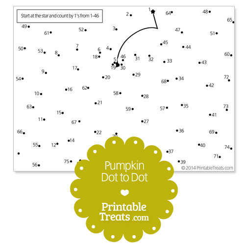free printable pumpkin dot to dot