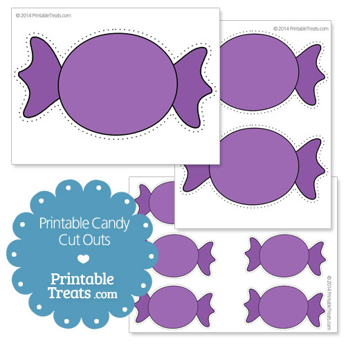 printable purple candy cut outs